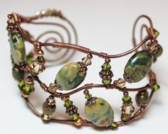 double decker copper wire cuff bracelet by fanceethat on etsy