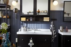 HEMNES BATHROOM SERIES; A traditional approach to a tidy bathroom.