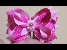 Laço Sarita. fácil e lindo - YouTube Diy Lace Ribbon Flowers, Ribbon Art, Ribbon Crafts, Ribbon Bows, Fabric Flowers, Ribbons, Hair Product Organization, Ribbon Retreat, Hair Bow Tutorial
