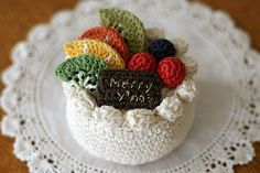 Crochet fruit cake