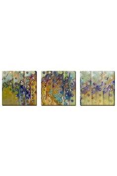 Mark Lawrence Set of 3 Untitled 41, Gallery Wrapped Canvas - Beyond the Rack