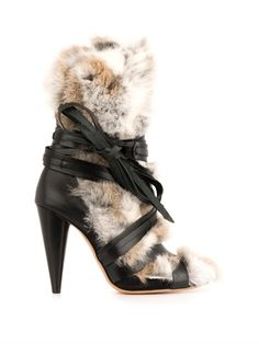 Isabel Marant Pietra fur and leather boots