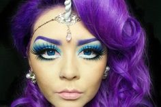purple curly hair - Google Search