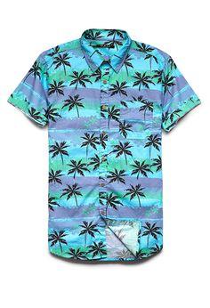 Palm Tree Cotton Shirt | 21 MEN #21Men #ForeverFest #Tropical