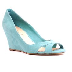 My wedding shoes! Wedges love them! Siren Shoes
