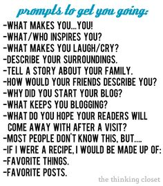 """Blogging tips: Prompts To Help You Revamp Your Blog's """"About"""" Page by The Thinking Closet #blogging #writing"""