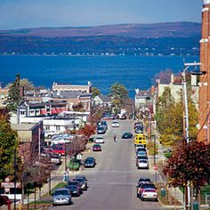 Petoskey, Michigan. My sister & her hubby lived there for a few years. Love the little town atmosphere :)