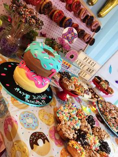 "Donut Birthday Party Ideas Megan C's Birthday / Donut - Photo Gallery at Catch My Party""}, ""http_status"": window. Donut Birthday Parties, Donut Party, Birthday Party Themes, Birthday Ideas, Pancake Party, Birthday Cake, Girl First Birthday, Third Birthday, Donuts"