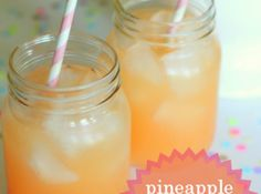 Pineapple Pink Lemonade Soda Recipe | Just A Pinch Recipes
