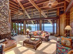 Living Room. Maui Luxury Oceanfront Rental Home for Your Hawaii Vacation: Aloha Moana Hale www.Vacation-Maui.com