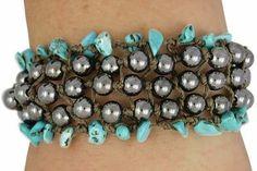 Turquoise and Hematite 5 Row Woven Bracelet Lonestar Jewelry https://www.amazon.com/dp/B01AGBUAFM/ref=cm_sw_r_pi_dp_x_uCFPybZVQJX53