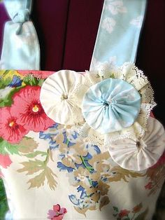 The Empty Nest: a closer look at the bodice of My Garden Fantasy Couture Apron
