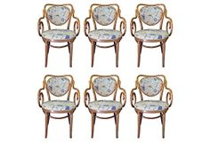 Thonet Dining Chairs w/ Embroidery, S/6 on OneKingsLane.com