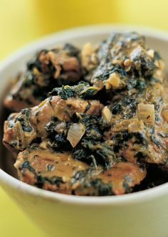 Lamb with Spinach - The Happy Foodie