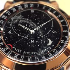 """Exclusively from Baselworld 2015: the new rose gold """"Sky Moon"""" fine timepiece from Patek Philippe. Explore more men's watches by Patek Philippe at London Jewelers. Patek Philippe #londonjewelers #baselworld #2015 #patekphilippe #rosegold #skymoon #instawatch #finetimepiece #style #luxury #genve #love"""