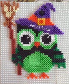 Witch owl Halloween hama perler beads by Deco.Kdo.Nat
