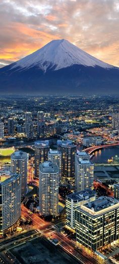 Yokohama City and Mount Fuji, Japan
