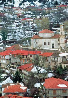 Valtessiniko, Saint George (1830) with the characteristic octagonal dome. Corinth Canal, Places In Greece, Mountain Village, Europe, Travel Memories, Travel Abroad, Macedonia, Greece Travel, Crete