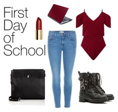"""""""First Day of School"""" by emmavanweert on Polyvore featuring Roland Mouret, Current/Elliott, RED Valentino and Valextra"""