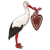 CARRÉMENT VINTAGE La cigogne la plus rétro, issue de l'univers de l'illustrateur Guy Untereiner en mode grande silhouette à accrocher. Pourquoi l'adopter ? Pour son exquise naïveté ! Écomusée Alsace France, Strasbourg, Vintage Images, Bird, Storks, Black Forest, Folklore, Scrap, Guy