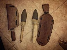 Made some sheaths for my primitive normanskill skinning and... Read more at: http://ift.tt/2ikW3nQ #crafts