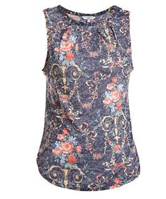 Floral baroque print top - a perfect mix of prints. £12.99  #NewLookFashion