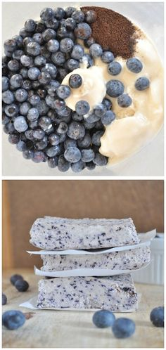 All you need is 4 ingredients to make these Blueberry Bliss Bars with zero processed sugar!All you need is 4 ingredients to make these Blueberry Bliss Bars with zero processed sugar! Healthy Desserts, Just Desserts, Delicious Desserts, Yummy Treats, Sweet Treats, Dessert Recipes, Yummy Food, Tasty, Diabetic Desserts