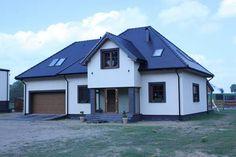 Widok frontu  #projekt #dom #aranżacja