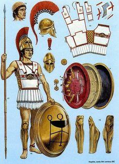 Guerreiro Grego e Armamentação