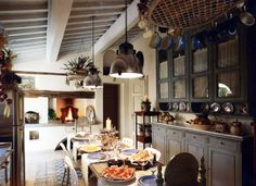 """Kitchen is Home, that warm and familiar place, where to light a fireplace and live an informal company.  """"Cucina è casa, quell'ambiente caldo e familiare, dove accendere un camino e vivere una informale compagnia.""""  #studiolanoce #architecture #design #interiordesign #artdecor #furniture #madeinItaly #luxuryhomes #tuscany #italy"""