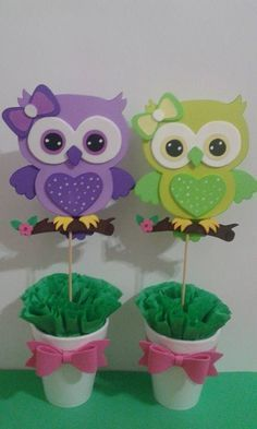 New Baby Shower Centros De Mesa Buho 59 Ideas Kids Crafts, Owl Crafts, Diy And Crafts, Paper Crafts, Owl Parties, Owl Birthday Parties, Baby Shower Centerpieces, Baby Owls, Baby Shower Themes