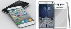 5S Apple iPhone y Samsung Galaxy S4 gustan por su diseño sencillo y elegante.