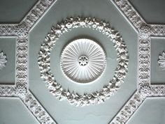 rococo: The Vyne — a country house in Sherborne St John, Basingstoke, Hampshire Ceiling Trim, Ceiling Detail, Floor Ceiling, Ceiling Decor, Ceiling Design, Ceiling Rose, Roof Design, Moldings And Trim, Plaster Mouldings