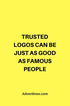 Trusted logos can be just as good as famous people.   #Marketing #MarketingTip #MarketingTips