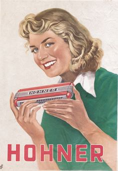 Hohner harmonica ad/illustration - Rumpoeys harmonica - Given to Dum Music Wall Art, Music Artwork, Vintage Ads, Vintage Posters, Harmonica Lessons, Blues, Poster Ads, Blue Life, Musical Instruments