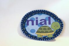 Turtle Name Patch Personalized Hand Embroidered by MaineCoonCrafts, $12.00
