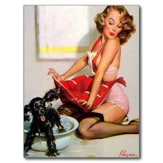 Vintage Pinup Girl Retro Pin-Up