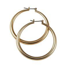 Matt #Gold Hoop Earrings - Also in Silver