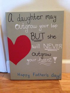 Father's Day Canvas by PaintingWifey on Etsy Diy Father's Day Gifts Easy, Father's Day Diy, Fathers Day Crafts, Happy Fathers Day, Mother And Father, You Are The Father, Mothers, Father Sday, Daddy Gifts