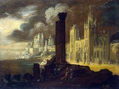 """Architectural Landscape early 17th century,  """"Monsu Desiderio (François de Nomé & Didier Barra plus others)"""""""