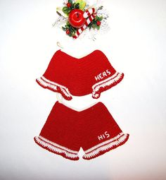 Vintage Ornament His and Hers Bloomers by ChristmasVintage on Etsy, $8.50