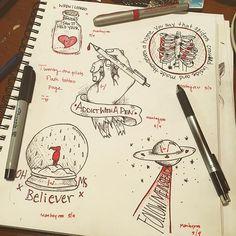 Kitchen Sink Twenty One Pilots Tattoo art twenty one pilots but i still like it stressed out  | art