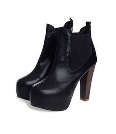 #Black #Leather #RoundToe #Heel #PlatformBoots £33.99 @ ShanghaiTrends.co.uk  /  http://shanghaitrends.co.uk/black-leather-round-toe-heel-platform-boots