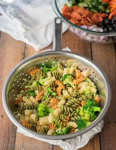 This Classic Italian Pasta Salad is so easy to make, but ALWAYS a favorite whenever I bring it to parties. Everyone always asks for the recipe and there is never any leftovers!