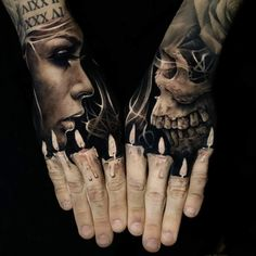 52 Best Tattoos Inspired by Classical Art and More for Handsome Mens tattoos inspired by art; tattoos inspired by books; tattoos inspired by movies; tattoos inspired by depression; tattoos inspired by history; tattoos inspired by nature Hand Tattoos For Guys, Hand Tats, Tattoos For Women, Skull Tattoos, Body Art Tattoos, Sleeve Tattoos, Skull Hand Tattoo, Maori Tattoos, Marquesan Tattoos
