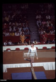 OLYMPICS - Women's Gymnastics - The 1976 Summer Olympic Games aired on the ABC Television Network from July 17 to August 1, 1976. Shoot Date: July 18, 1976. NADIA COMANECI (ROMANIA), BALANCE Nadia Comaneci, Romanian Girls, Abc Photo, Female Gymnast, Summer Olympics, Photo Archive, Still Image, Olympic Games, Body Measurements
