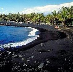 Kaui, Hawaii - Black Sand My favorite island to get a quire weekend away