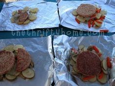 Tinfoil Dinners - Camping Recipe