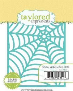 Spider Web Cutting Plate on www.addictedtorubberstamps.com