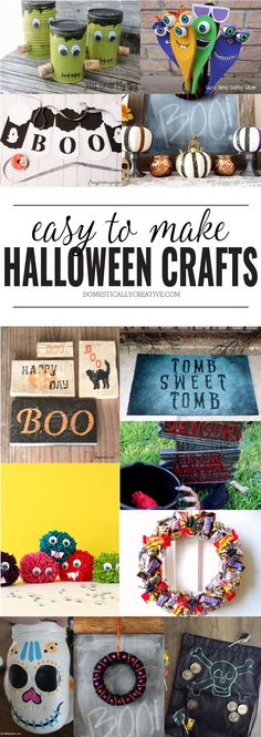 182 best Halloween Ideas and Inspirations images on Pinterest - decorations to make for halloween